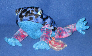 f06beb38f99 TY DART the BLUE DART FROG BEANIE BABY - MINT with MINT TAG ...
