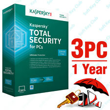 KASPERSKY TOTAL SECURITY 3 PC / 1 YEAR | PURE | DOWNLOAD | NO CD