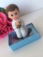 1pc Baptism Communion Cake Topper Decorations Table Boy Decoracion Pastel Niño