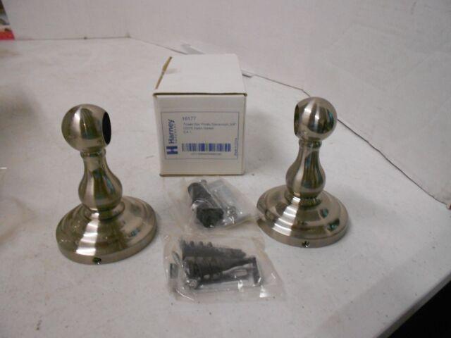 Harney Hardware Towel Bar Posts Savannah Collection Satin Nickel 16177