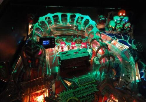 Scared Stiff JUNKYARD SAFE CRACKER Pinball Playfield Light mod Red or Green