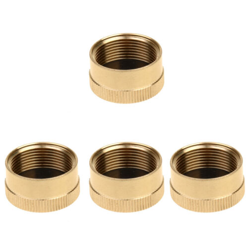 4pcs Solid Brass Cap 1 LB for Outdoor Camping Stove BBQ Propane Tank Caps