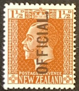 New-Zealand-Optd-OFFICIAL-Definitives-Mounted-Unused-AF89