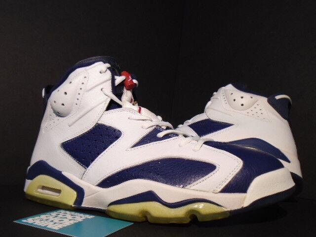 2000 Nike Air Jordan VI 6 Retro+ USA OLYMPIC 136038-461 WHITE NAVY BLUE RED 136038-461 OLYMPIC 11.5 b0ccad