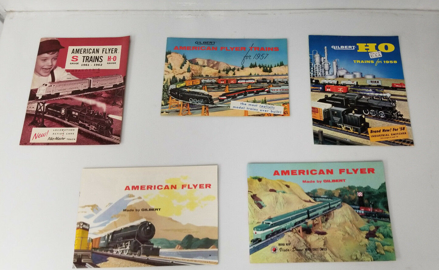 Vintage American Flyer Gilbert Train booklet adverdeisement lot 5