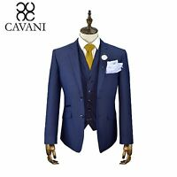 Mens Designer Cavani Tweed 3 Piece Suit Blazer Waistcoat Trousers Sold Separate