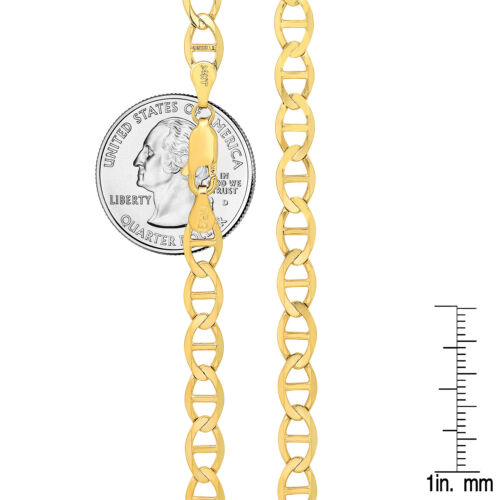 """Solid 14kt Yellow Gold Mariner Link 1.1-7.4mm Chain Necklace Pendant Sz 16/""""-26/'"""