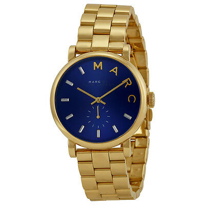 Marc By Marc Jacobs Baker Metallic Blue Dial Gold-tone Ladies Watch MBM3343
