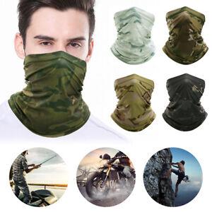 Elastic Silky Face Mask Cover Multi-Use Tube Bandana Neck Gaiter Balaclava Scarf