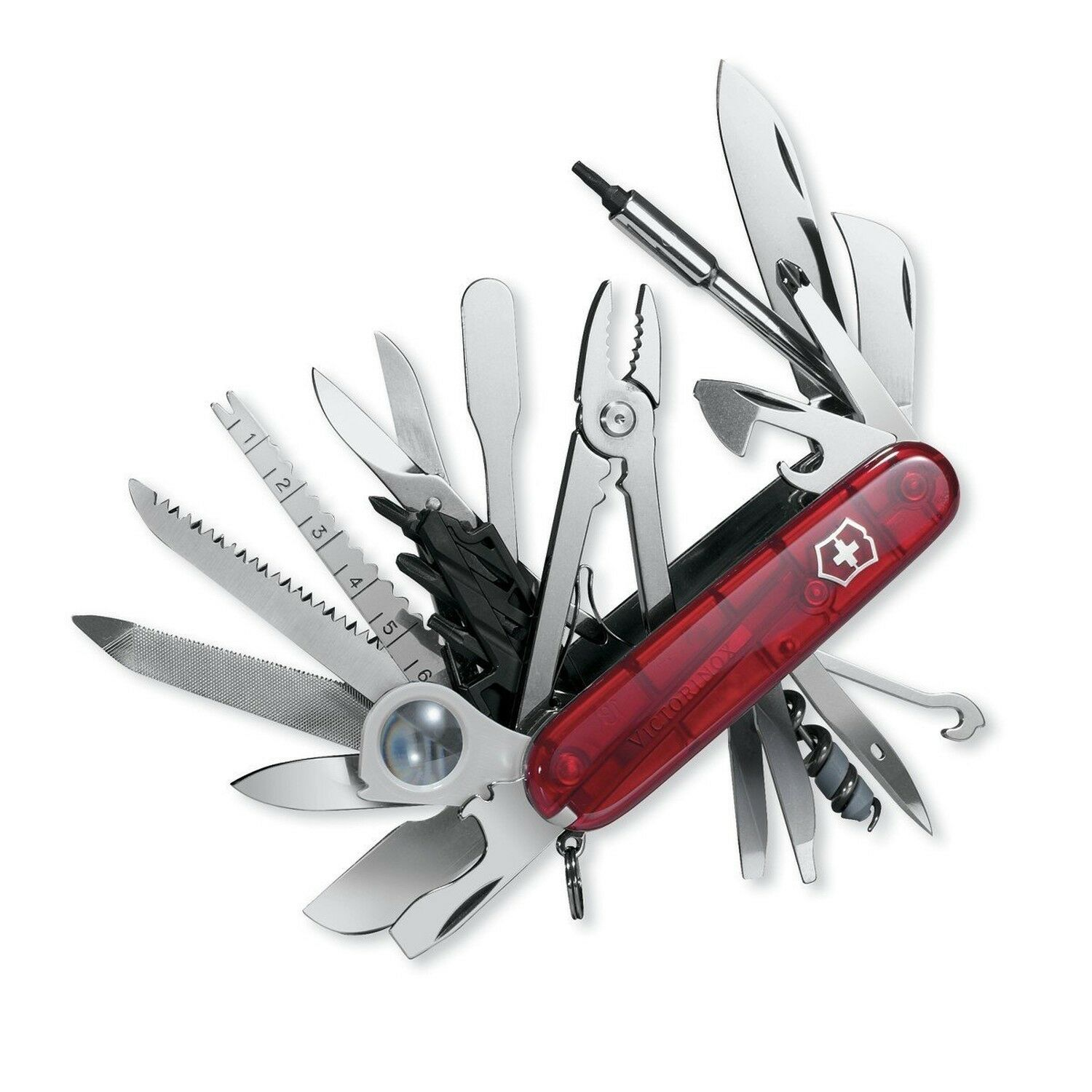 Victorinox Swiss Army  Swiss Champ XLT (Transucent Ruby)  fitness retailer