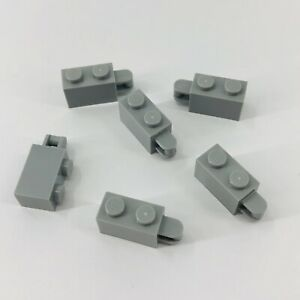 No 34816 Sand Blue Brick 1 x 2 w Handle on End QTY 10 LEGO Parts