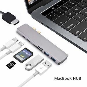 6-7in1-Per-MacBook-Pro-HUB-USB-C-Tipo-Dual-C-SD-CARD-READER-ADATTATORE-HDMI-IT
