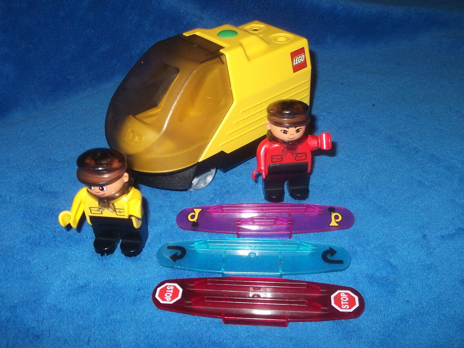 Lego Duplo Eisenbahn INTELLI Lok aus 3325 3 X Codesteine Fahrer Rot + Gelb