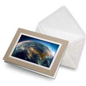 Greetings-Card-Biege-Planet-Earth-Travel-Globe-Space-24541