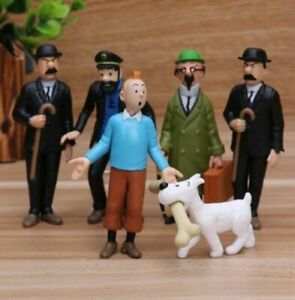 1.5 inch The Adventures Of Tintin Snowy Dog Figure Loose Toy Rare