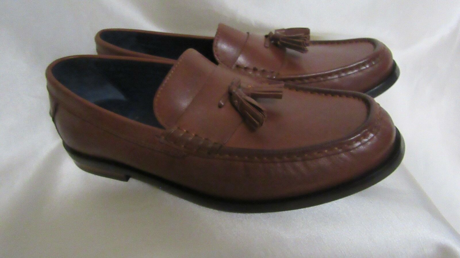 MEN`S COLE NEW HAAN SLIP ON LOAFERS SIZE 8 M NEW COLE BROWN LEATHER #C25264 4f3d54