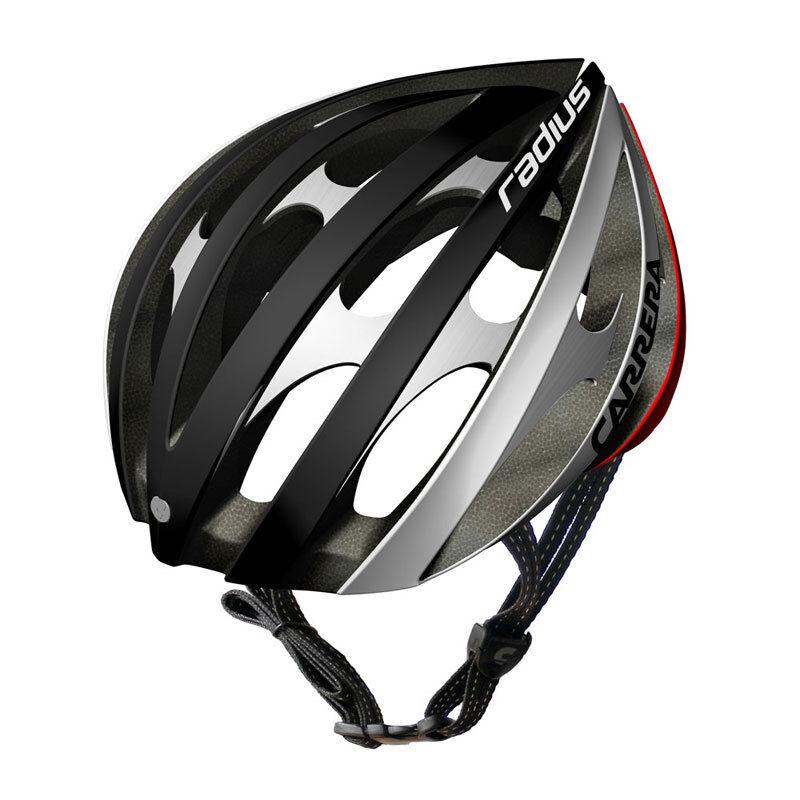 CARRERA RADIUS di alta qualità su strada bicicletta casco 5861 cm Nero