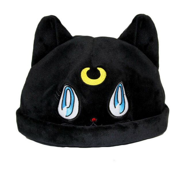 8b26650190b Sailor Moon Luna Black Cat Plush Hat Cosplay Anime Costume Cap Gift ...