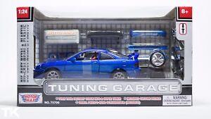 INTEGRA-TYPE-R-Diecast-Model-TUNING-GARAGE-1-24-MOTOR-MAX-JDM-Blue-Bodykit-Wheel