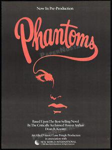 Dean-R-Koontz-039-s-PHANTOMS-Original-1989-early-Trade-print-AD-promo-poster