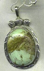 Large-Signed-Sterling-Silver-and-Verasite-Pendant-with-Box-Chain