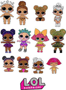LOL Surprise Dolls Self Adhesive Vinyl Stickers