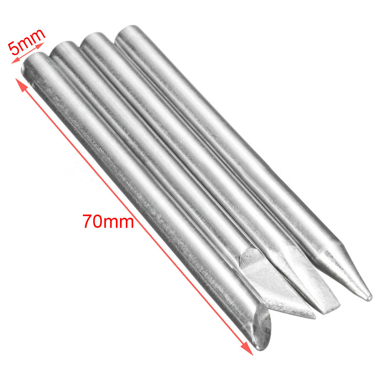 4Pcs 60W Electric Soldering Iron Tips Head Welding Lead 5mm For Solder Station