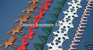 May-Arts-Cut-Out-Satin-Christmas-Ribbon-Snowflakes-Reindeer-Bows-Trees-etc