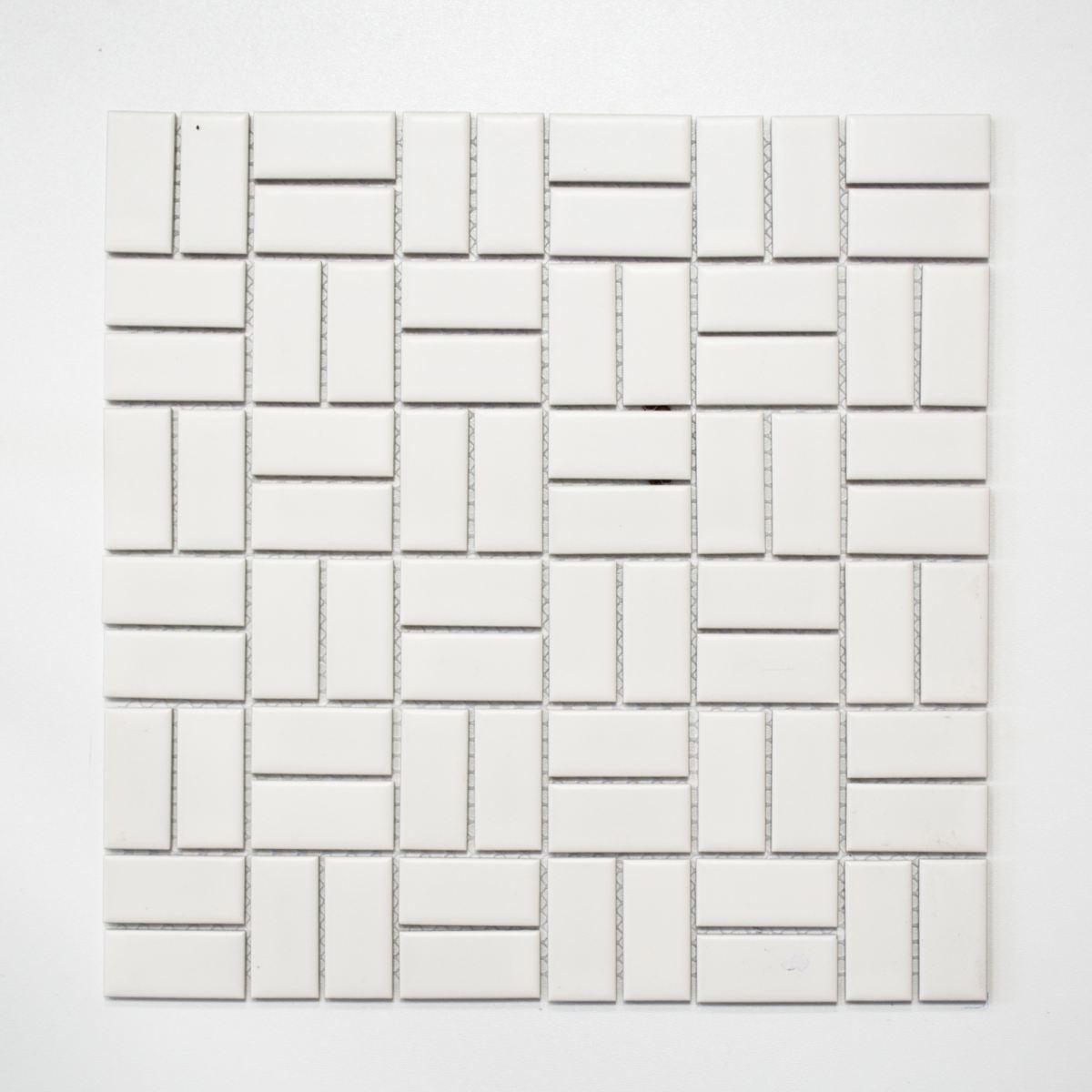 Mosaik Fliese Keramik Windmühle weiß matt Küche Bad WC  24-CWM07WM_f  10Matten