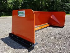6' Low Pro Kubota Orange snow pusher box FREE SHIPPING skid steer Bobcat Case