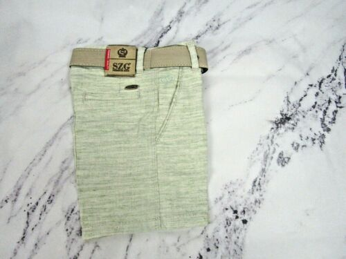 Boys woven shorts with belt