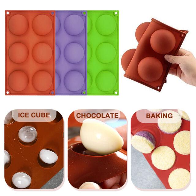 1-2Pack Silicone Mold 6 Holes Hot Chocolate Bomb Cake Baking Mould Xmas Gift US