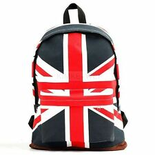 UK British Flag Union Jack Style Backpack Shoulder School Bag BackPack Canvas