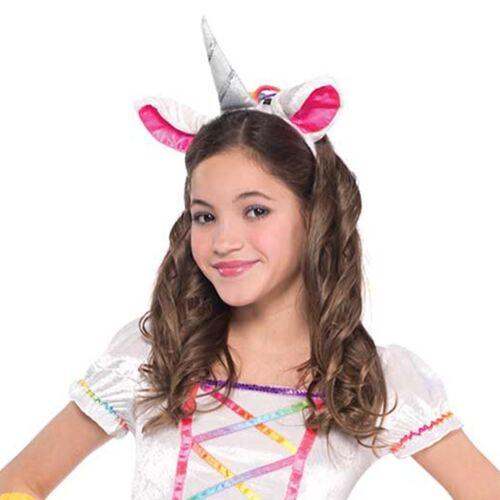 Girls Deluxe Rainbow Pony Unicorn Horn Pegasus Fancy Dress Tutu Headband Costume