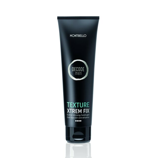 Xtrem fix texture Decode Men Montibello 150ml gel fijación extrafuerte