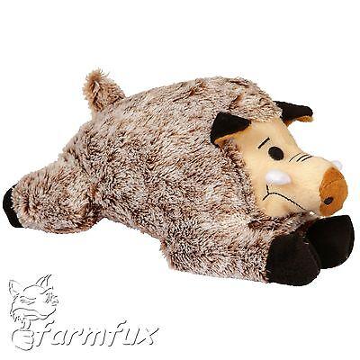 Hundespielzeug Wildschwein aus Plüsch mit Squeaker 30 cm Plüschtier Wildsau Sau