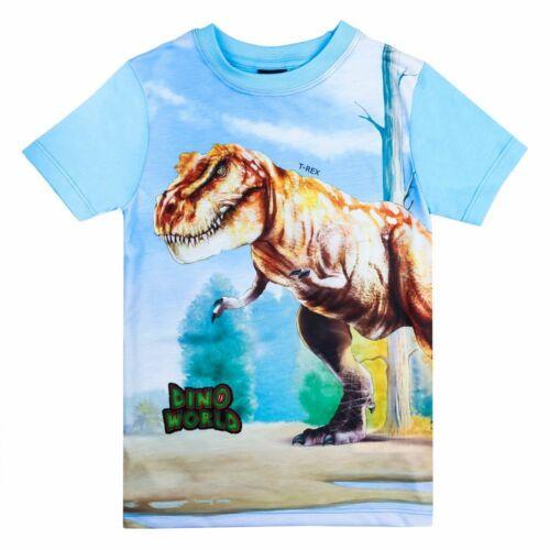 Nouveau Dino World Dinosaures Shirt T-Shirt T-Rex Dinosaures Taille 98 104 116 128 Neuf