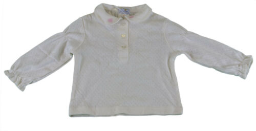 JACADI Girl/'s Atteste Natural Long Sleeve Polo Top Size 6 Months NEW $26