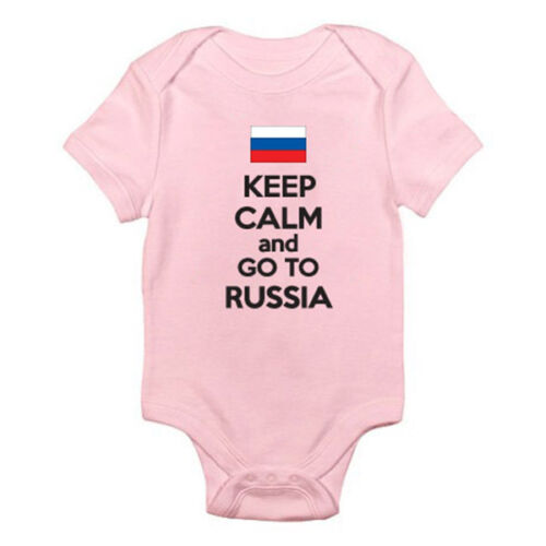 Russian Federation Suit KEEP CALM AND GO TO RUSSIA Fun Themed Baby Grow