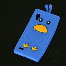 Lg p760 Optimus l9 silicona, móvil, funda, funda protectora, estuche, cáscara Chicken azul 3d