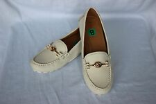 NEW Chalk Cream COACH Leather ARLENE Women's Loafers Flats Driving Moc Shoes 8