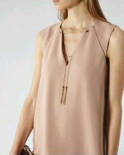 Brand Blaze Reiss Designer strati scuro Dettaglio della 10 Dress a New Size rosa catena wBXTT4Zq