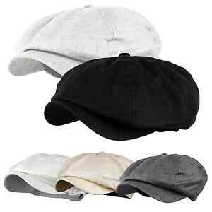 87f4e8ce8 Details about Men's Newsboy Cap Cabbie Driving Golf Linen Applejack Cap  Gatsby 8 Panel Hat