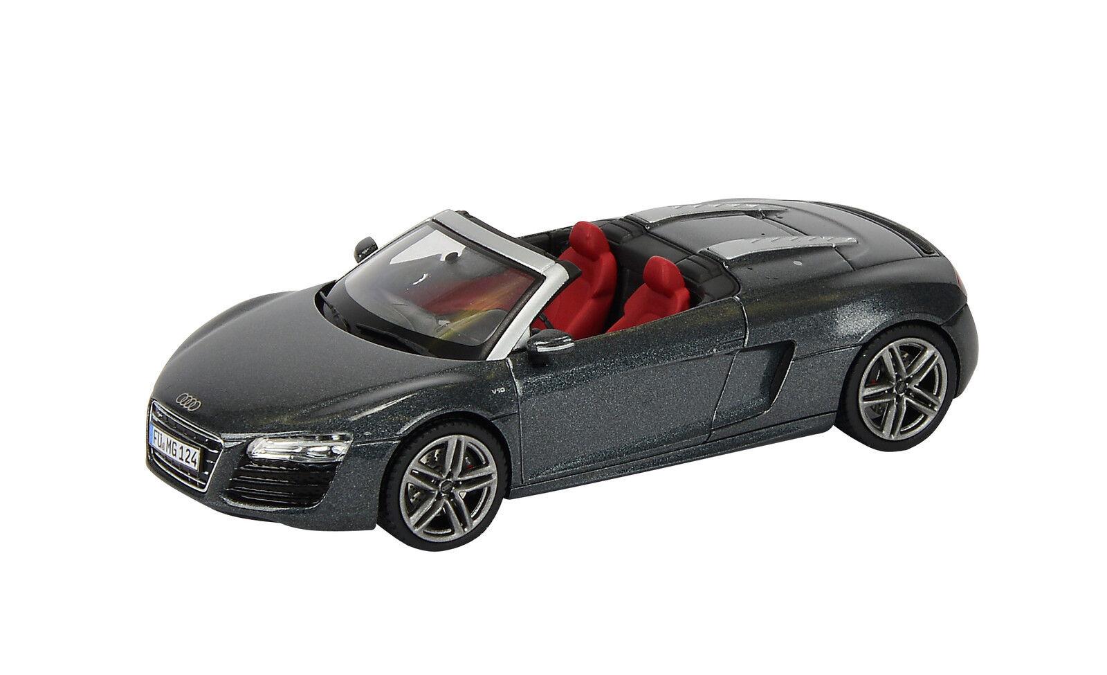 Schuco 1 43 450752300 Audi R8 Spyder 2012 grey grey grey NEU OVP 3a8a31