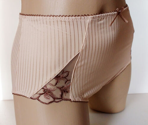Panache Midi Style Full Back Silky Panties Biscuit Colour Knickers UK 10 S