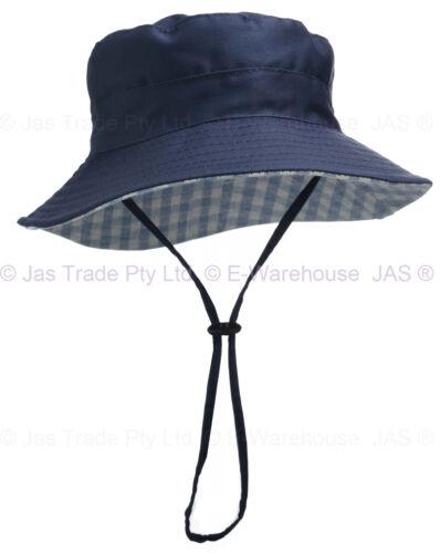 Kid Child Boy Girl Toddler Preschool Bucket Sun Hat Cap Cotton Draw Chin Strap