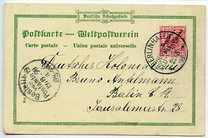 GERMAN-NEW-GUINEA-1898-10pf-postal-card-034-grus-aus-034-pmk-BERLINHAFEN-cds