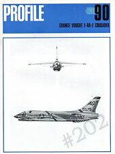 Chance Vought F-8A-E CRUSADER - Profile Aircraft No 90 - 1971 Scale Drawings