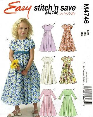2005 Sew Easy Dress Pattern Size Choice 6-20 Butterick 4596 OOP