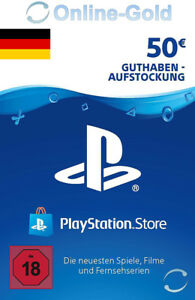 50€ EUR Playstation Network Card - 50 EURO PSN Prepaid Key PS3 PS4 PS Vita - DE